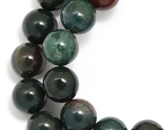 Indian Bloodstone Beads - 8mm Round