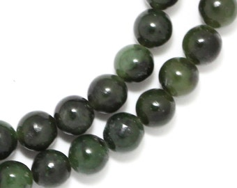 Nephrite Jade Beads - 6mm Round