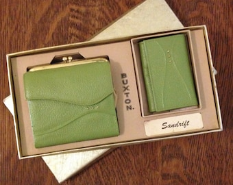 Vintage Wallet 1960s Green By Buxton
