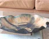 Free Form Ceramic Centerpiece Art Tray Earthy Clay Decorative Dish Organic Rustic Home Accent Earth Tone Pottery Vessel