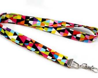 Colorful Triangles - Lanyard