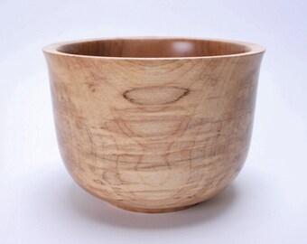 Spalted Big Leaf Maple Wooden Bowl 1344
