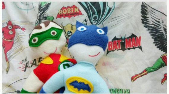 batman and robin crime fighting set of two soft action figures