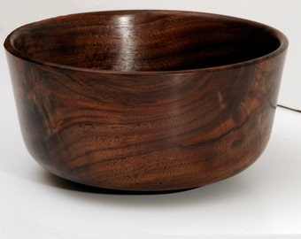 Walnut Bowl, Turned Wood Bowl, Wood Serving Bowl, Walnut Crotchwood Serving Bowl, Hostess Gift