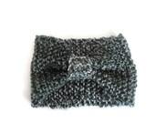 Womens Headband, Black Headband, Turban Headband, Knit Earwarmer, Winter Headband
