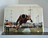color photography envelope, track and field athlete