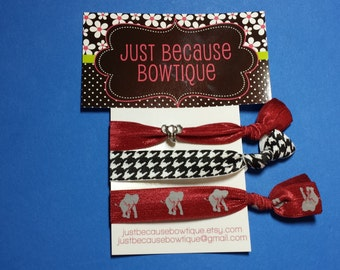 No Crease Hair ties - Alabama - Rolltide - Great Stocking Stuffer!!