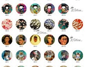 ALL NEW Design Glass Cabochon 12mm 20mm 25mm 30mm( 25mm Flat )Handmade Photo Glass Cabochon -Image Glass Cabochon-(HPP-G) Part 150