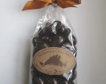Dark Chocolate Covered Almonds with Martha's Vineyard Sea Salt® 70% Cacao Chocolate Enchanted Chocolates