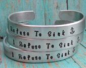 Bracelet SET of 7 Custom Hand Stamped Jewelry Cuff Bracelets Aluminum Toddler Child Teen Womens Personalized 12 Gauge Sturdy Aluminum