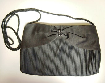 Vintage 1980's black evening bag or clutch