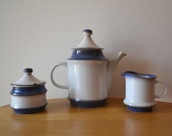 Goebel Auvergne Coffeepot Creamer and Sugar Bowl Set