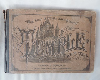 Antique Music Book 1879 The Temple Published by Ditson & Company
