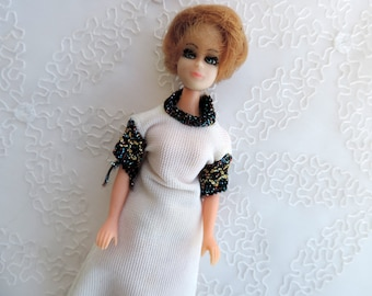 """Free Shipping Dawn Dolls by Topper 60's  -70's Tiny Fashion Dolls 6"""" High Short Rooted Hair"""