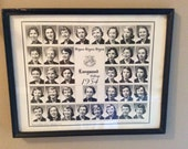 Longwood College Tri Sig 1954 Sorority Composite Photo Vintage College Picture