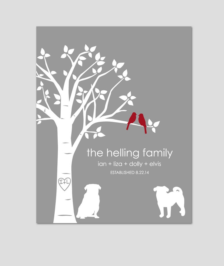 Gift for Dog Lovers Pug Art Dog Lover Gift Family by ...