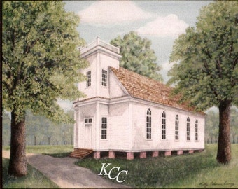 Custom Portrait of a House, Childhood Home, Church, or School