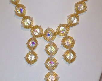 Crystal and gold diamonds