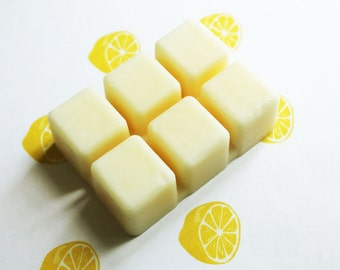 Lemon Scented Melts - Natural Vegan Soy Wax - Soy Candles - Soy Wax Melts - Soy Tarts