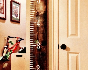 Vinyl Numbers and Tick Marks for DIY 6 ft. Growth Chart, 6 ft. Ruler, Family Gift, Baby Gift, Child Growth Chart, Nursery Decor, Vinyl Decal