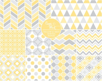 Yellow and Grey Digital Papers