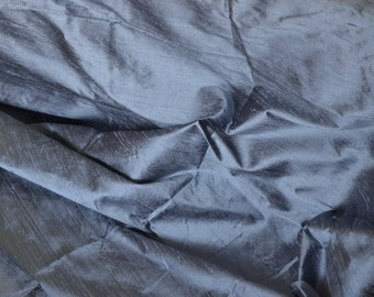 Slate grey, Pure Indian Dupioni Silk fat quarter - Dupioni  - D 287