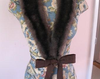 1940's Sweater Fur Collar