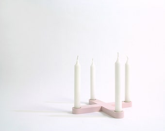 Candleholder SNUG.CROSS / rose