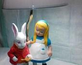 NEW Lamp  Alice and White Rabbit