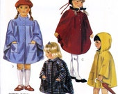 McCall's 3452 Vintage 80s Children's or Girls' Unlined Capes Sewing Pattern - Uncut - Size Small 5-6