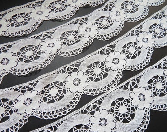 5 Yrds Handmade French Lace Exceptional Length and Width Vintage Dentelle de Puy Bobbin Lace