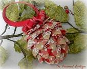 Pinecone Christmas Ornament Ribbon Rustic Ornament