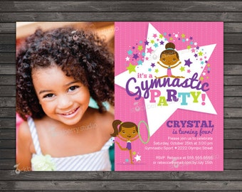 Gymnastics Birthday Invitation Printable - Gymnastic Invite - Gymnastics Party - Gymnastics Invitation - Gymnastic Birthday Invites