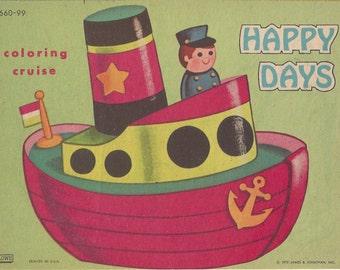 Happy Days Vintage Coloring Book, 1972