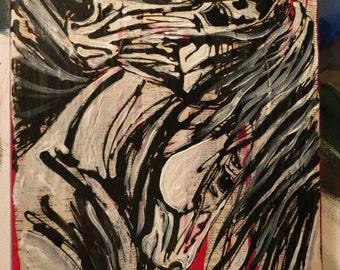 Print of Dancing Passion, horses, equine art,