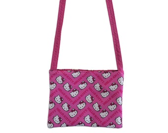 Hello Kitty Kids Crossbody Bag // Hello Kitty Chevron Crossbody Purse