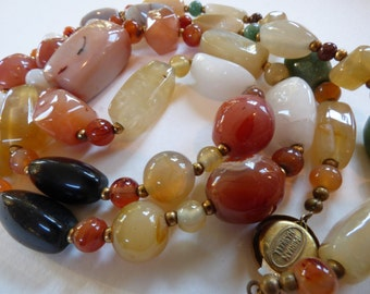 Miriam Haskall Necklace from the1970s Natural Stones