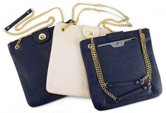 Convertible Tablet Case in Bone or Navy