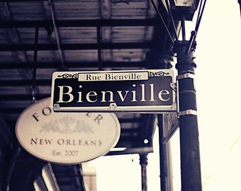 New Orleans  Photography Streets of New Orleans Bienville Avenue Architecture Photography City Architectural Fine Art Photography Print