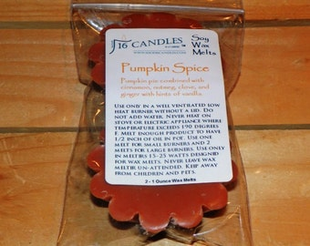 Pumpkin Spice Soy Wax Tart Melts - 2 Pack - Scented Wax Melts/Spicy Scents/Fall Fragrance/Soy Tarts/Fragrant