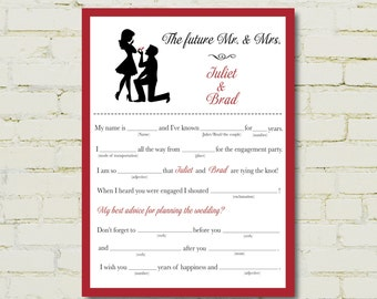 ENGAGEMENT party mad libs - Proposal edition - PDF
