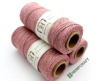 Pink Hemp Twine, Vintage Rose, High Quality 1mm Hemp Crafting Cord