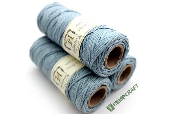 Hemp Twine, Sky Blue High Quality 1mm Dyed Colored Hemp Craft Cord