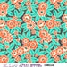 Orange Green Floral Cotton Fabric Violette Camellia in Crush by Amy Butler, 1 yard- SALE