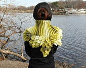 CROCHET PATTERN: Crocodile Stitch Leafy Capelet - Permission to Sell Finished Product