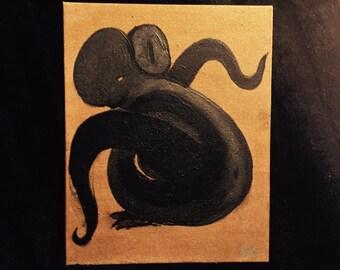 Cthulhu Cat Original Art Painting