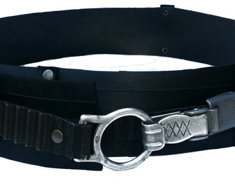 Groove rubber belt with parachute lock and big ring ll
