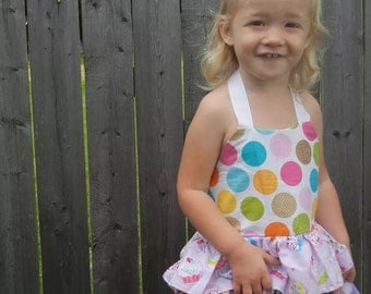 Custom Ruffled Scrap Dress - Cupcake Dress