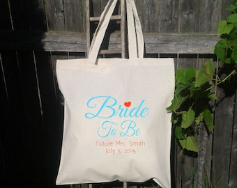 Future Bride To Be - Personalized Wedding Bag Tote, You choose colors