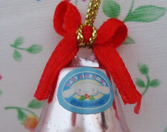 The Christmas Cinnamoroll Pendant.From Sanrio.Super Tiny Bell Pendant.